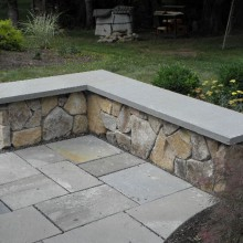 Bluestone capped Natural Stone Seating Wall – Martinsville – NJ