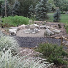 Circular Outdoor seating area – Bridgewater – NJ