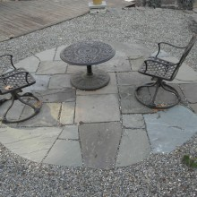 Custom Bluestone seating space – Highland Park – NJ