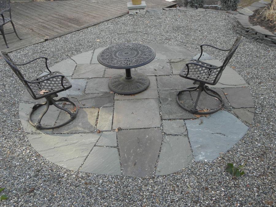 Custom Bluestone seating space – Highland Park – NJ