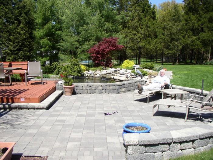 Outdoor Living Space U2013 Pond U2013 Patio U2013 Bridgewater U2013 NJ