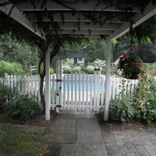 Pergola – entrance to pool area – Morris County