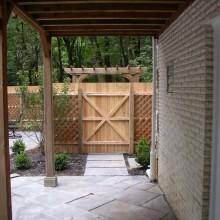 Pool area entrance  – custom fence – Harding – NJ